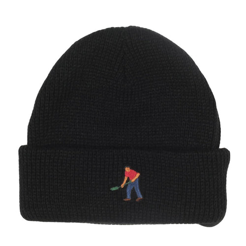 Full Time Embroidery Beanie - Black
