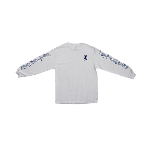 Drunk At Your Wedding Longsleeve Tee- White - Hemley Skateboarding