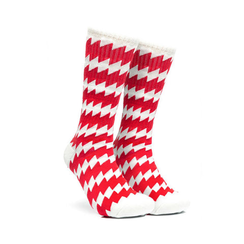 CSC Socks - White and Red - Hemley Skateboarding
