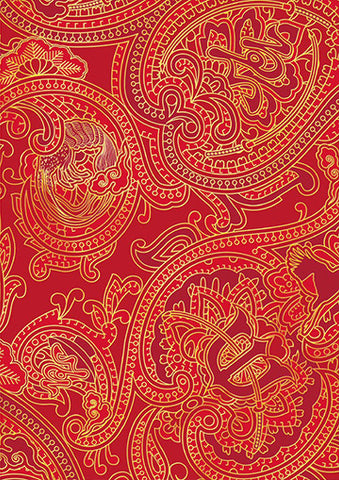 Paisley Red Trendy