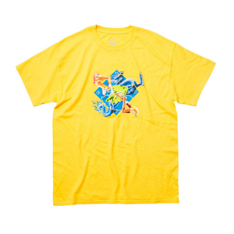 Kill Pill Tee - Yellow - Hemley Skateboarding