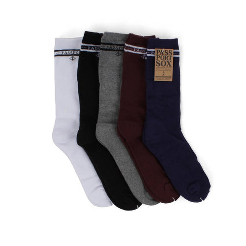 Passport Socks - Mixed Salute 5 Pack - Hemley Skateboarding