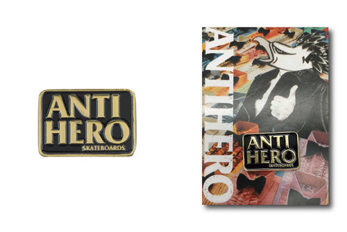 Anti Hero Pin - BlackHero - Hemley Skateboarding