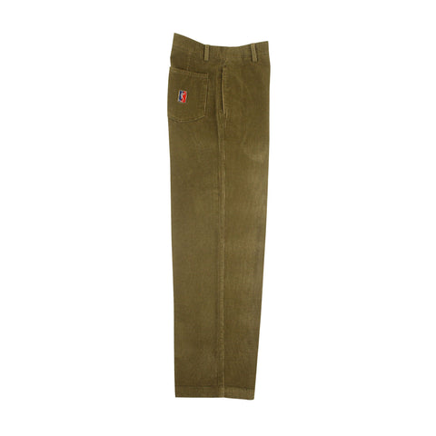 Corduroy Slacks - Moss/Gold
