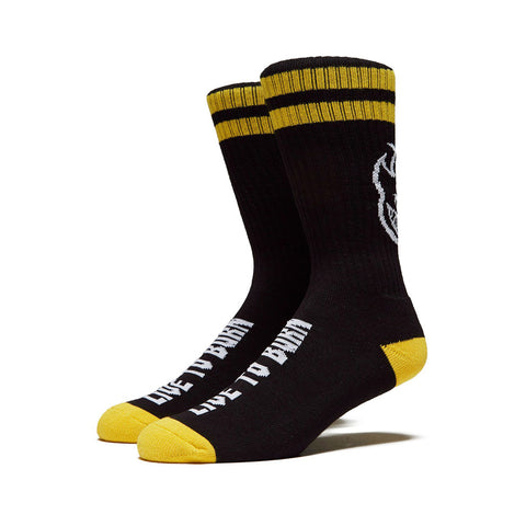 Heads Up Socks - Black/Yellow/White