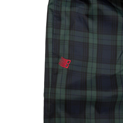 Plaid Track Pants - Navy/Green