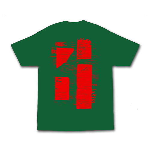 Shopping List Tee - Forest Green / Red