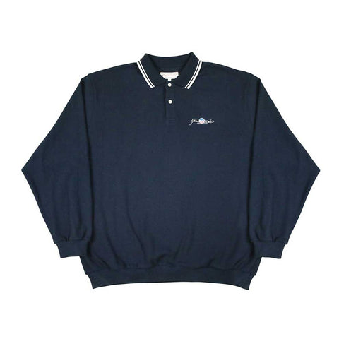 Sunscript Polo Sweater - Navy