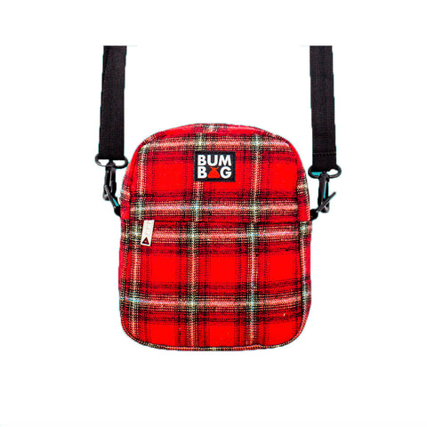 Afirm Compact XL Shoulder Bag - Red Plaid - Hemley Skateboarding