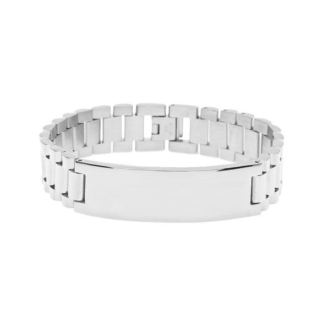 bracelet mens for figaro steel product stainless inches men