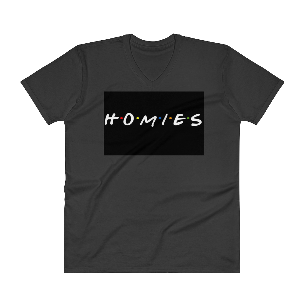 Homies Black V-Neck T-Shirt