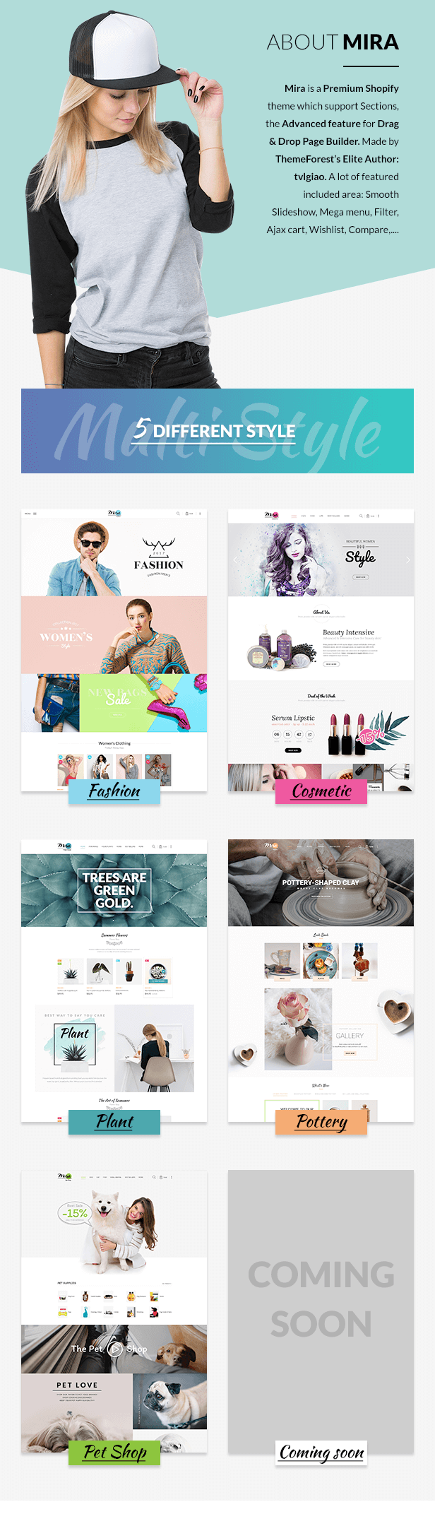 Mira – Responsive Sectioned Shopify Theme for Fashion, Cosmetic, Plant, Pottery and Pet Store (Shopify)