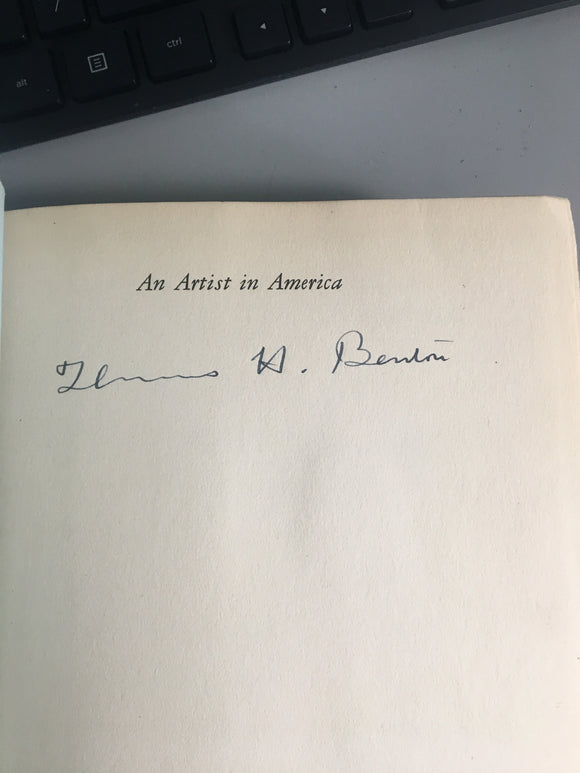 Autographed Thomas Hart Benton Signed Illustrated An Artist in America 1937