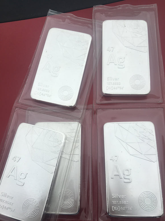 2018 Mint Sealed .999+ Periodic Table Ag 10oz Silver Bars