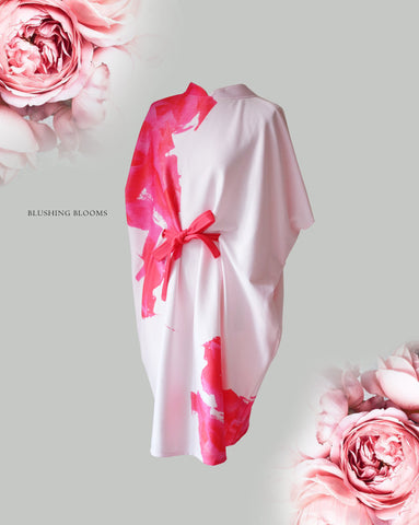 BLUSHING BLOOMS Kimono Dress