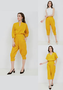 Basic 3-Way Pants MUSTARD