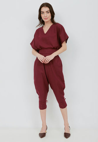 Basic Relax Top BURGUNDY