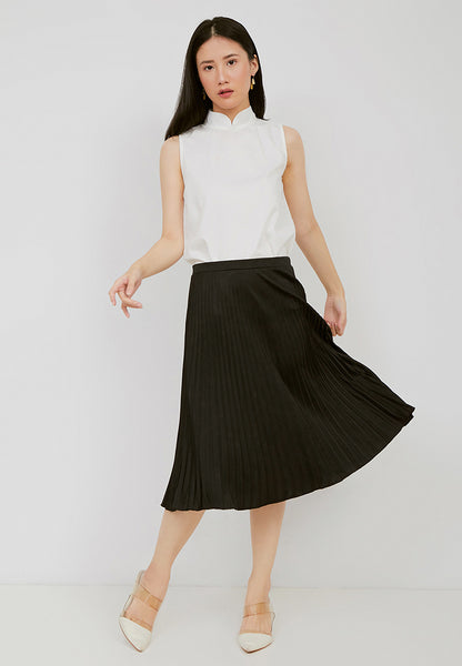 Basic Pleated Skirt Black