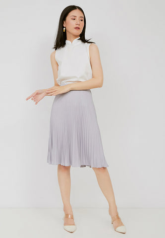 Basic Pleated Skirt Grey