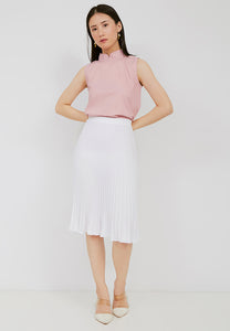 Basic Pleated Skirt White