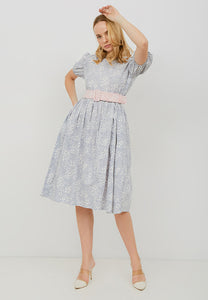 SAKURA さくら GREY Puff Sleeve Dress BATIK