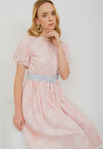 SAKURA さくら BLUSH Puff Sleeve Dress BATIK