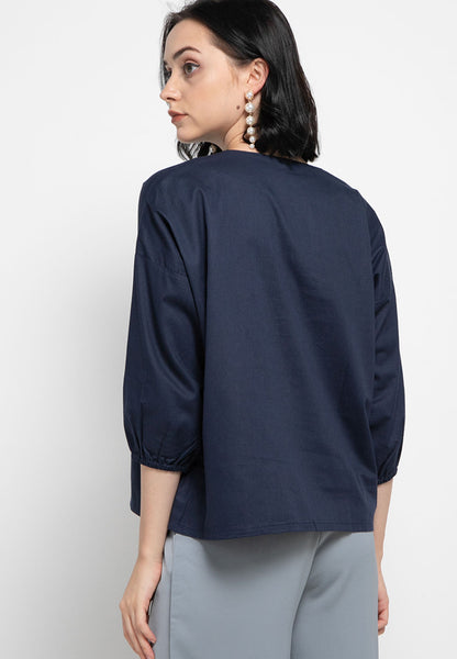 Basic Tunic Shirt Navy