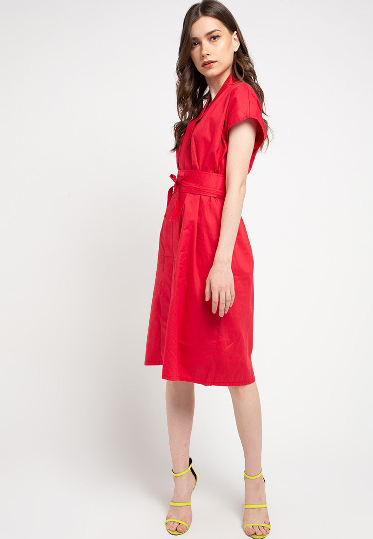 Basic Nyonya Dress Red