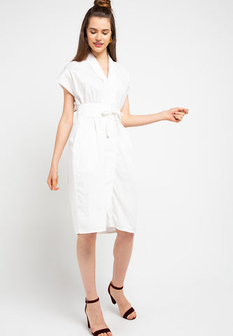 Basic Nyonya Dress White