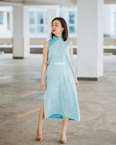 KAWUNG MINT Cheongsam Dress BATIK