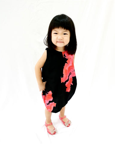 Black Blooms MiniMe Dress