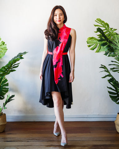 BLACK BLOOMS Flying Dress #cny