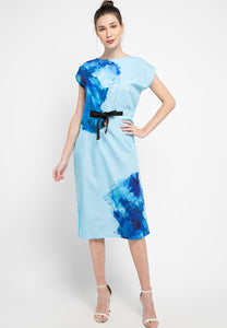 BLUE SPLASH Kimono Dress Straight