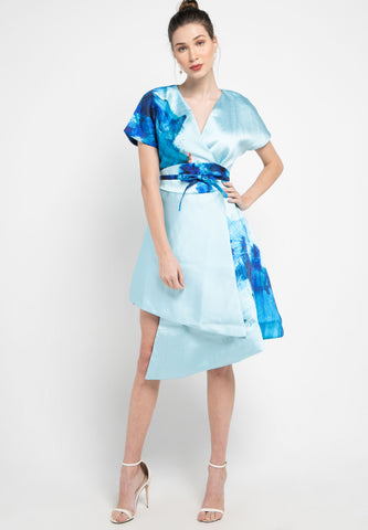 BLUE SPLASH Vest Dress