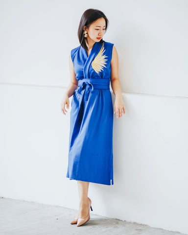 GOLDEN WINGS Royal Blue Blazer Dress #cny