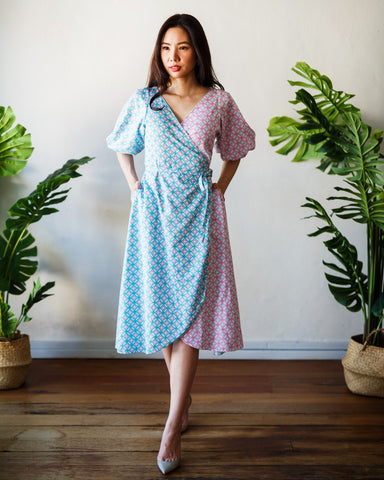 CANDY TILES Mint Wrap Dress