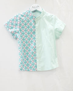 Candy Tiles Mint Boy Shirt
