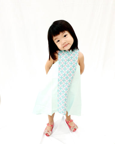 Candy Tiles Mint MiniMe Flying Dress