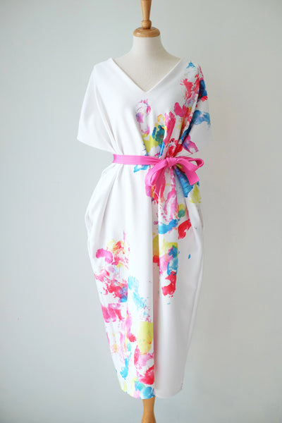 FOOTPRINTS Midi Kimono Dress
