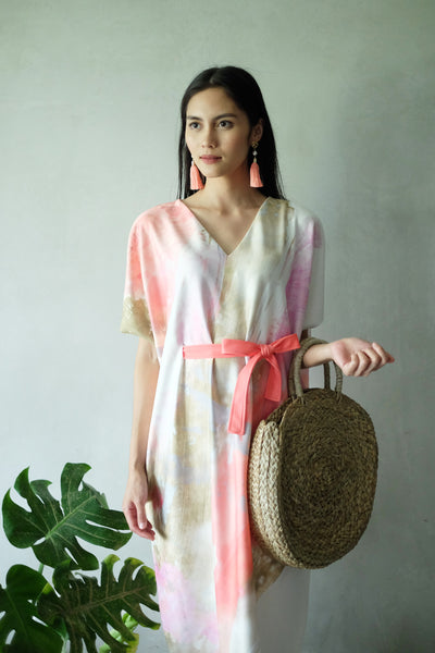 ENGLISH ROSE Midi Kimono Dress