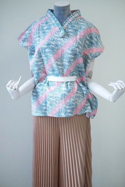 PARANG PINK GREEN Multiway Top BATIK