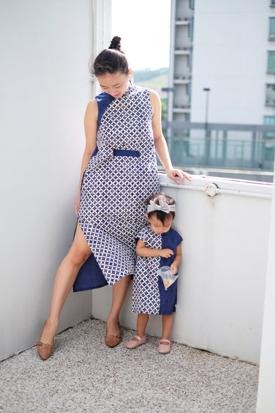 KAWUNG NAVY MiniMe Dress BATIK