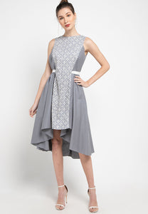 FLORAL Grey Flying Dress #sl
