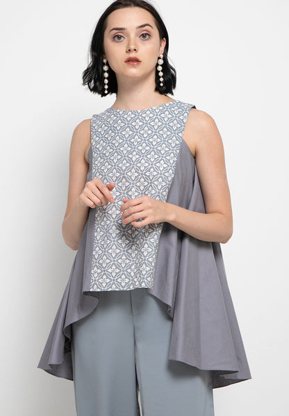 Floral Grey Flying Top #cny