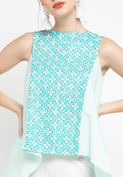 Floral Mint Flying Top #sl