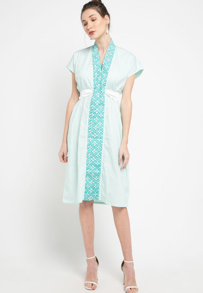 Basic Floral Nyonya Dress Mint