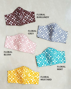 BATIK FLORAL Reusable Mask