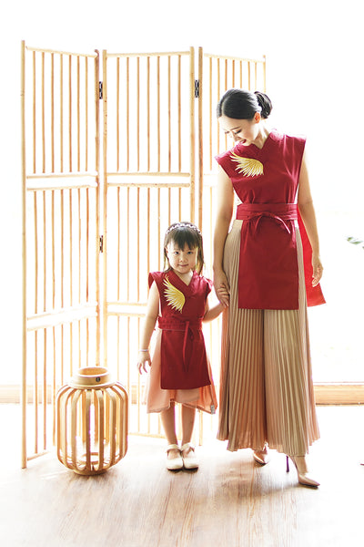 GOLDEN WINGS MiniMe Layered Dress