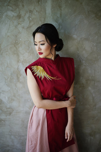 GOLDEN WINGS Layered Dress