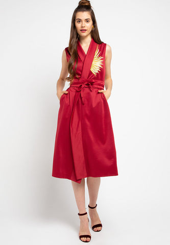 GOLDEN WINGS Red Blazer Dress